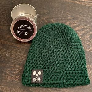FNF Limited edition Army Green Hand Knit Beanie